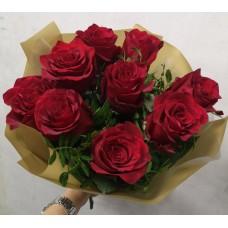9 explorer roses in decoration