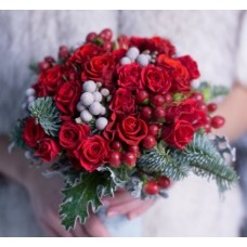 "Wedding bouquet ""Winter rose"""