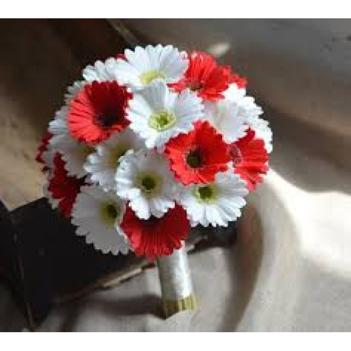 """Wedding bouquet """"Red-white"""""""