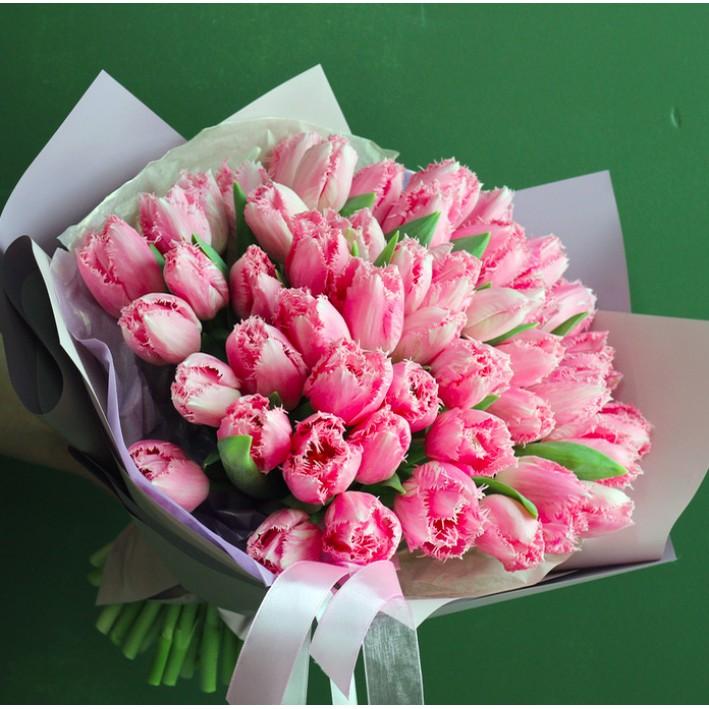35 pink peony tulips