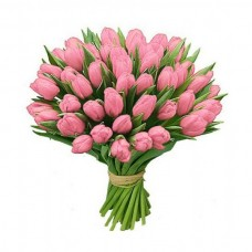 45 pink tulips