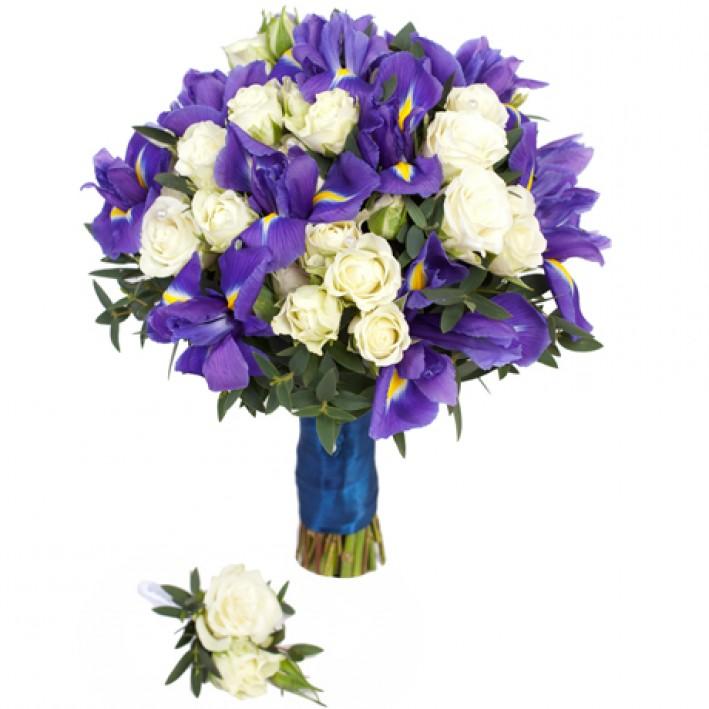 "Wedding bouquet ""Irises3"""