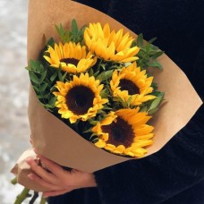 Bouquet of 5 sunflowers