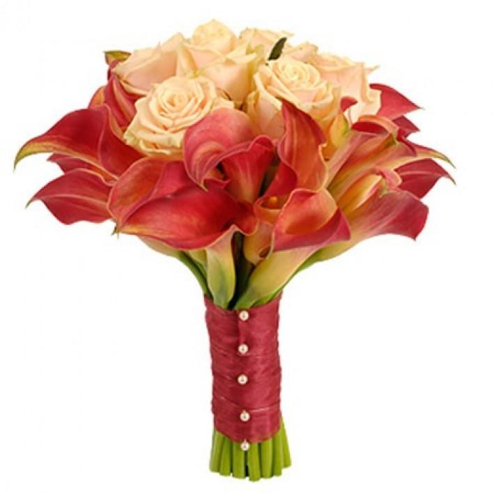 """Wedding bouquet """"Red"""""""