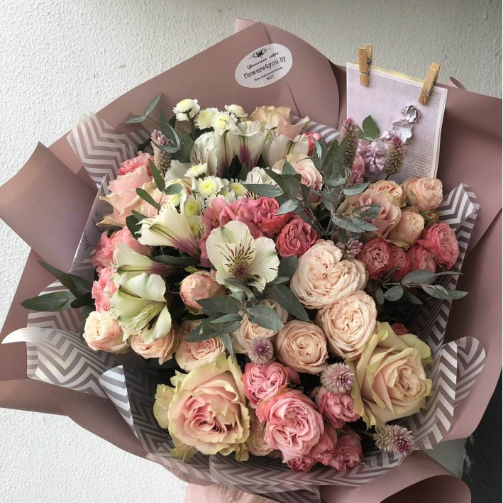 "Bouquet ""Pale pink"""