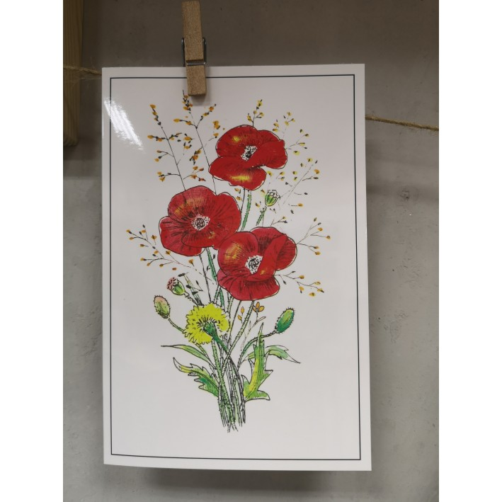 "Greeting card ""Flowers"""