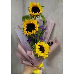 Bouquet 3 sunflowers