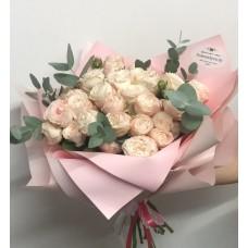 15 pion-shaped bush roses bombastik