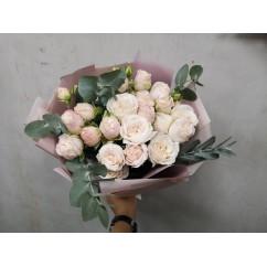 7 pion-shaped bush roses bombastik