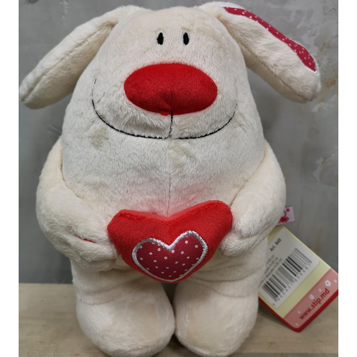 Rabbit with a heart 35 cm