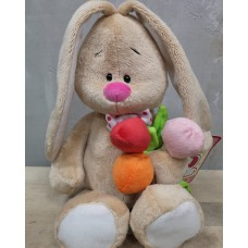 Tiny Bunny with Tulips