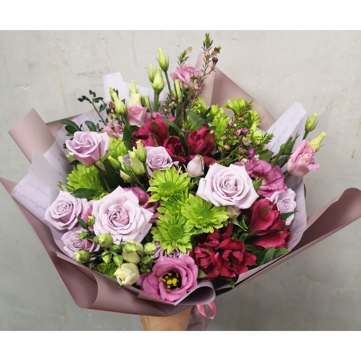 """Bouquet """"Green Rose"""""""