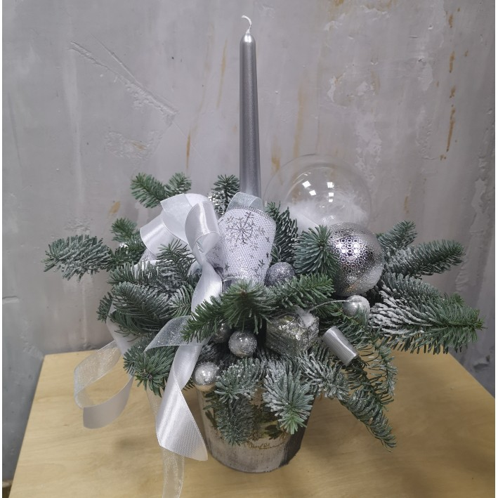 """Composition with a candle """"Christmas3"""""""