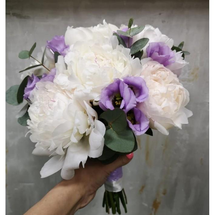 "Wedding bouquet ""White Peony"""