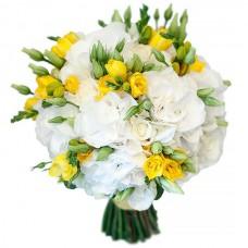 """Wedding bouquet """"Yellow-white"""""""