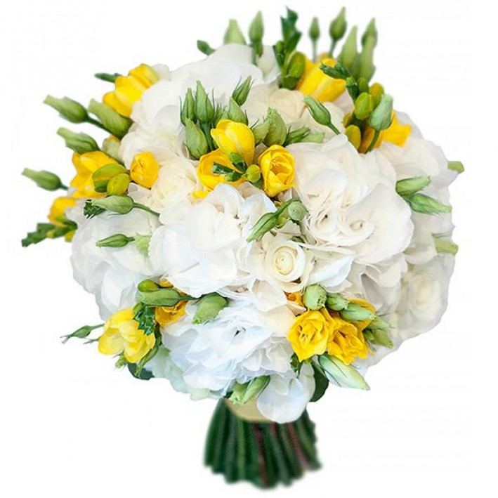 "Wedding bouquet ""Yellow-white"""
