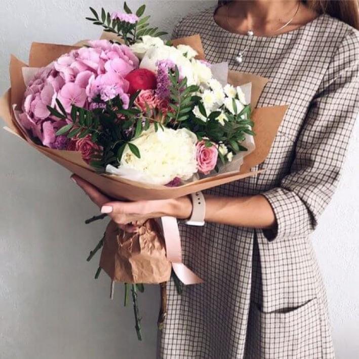 """Bouquet """" Pink hydrangea"""""""
