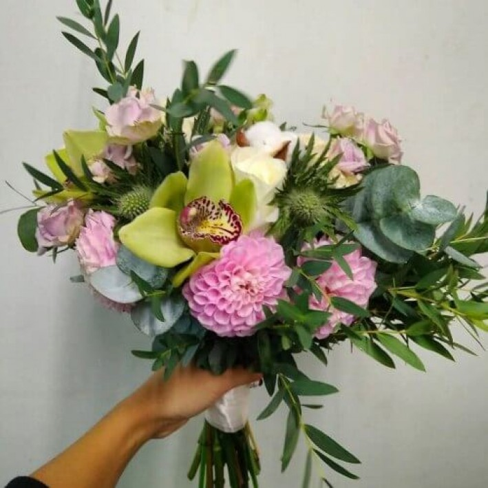 "Wedding bouquet ""Breath of summer"""