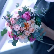 "Wedding bouquet ""Peony roses"""
