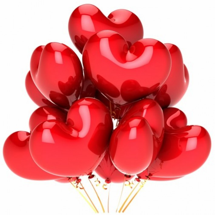 Ball-heart red foil