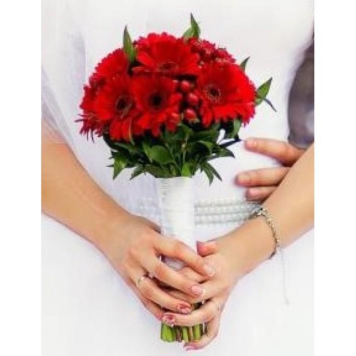 "Wedding bouquet ""Red Gerbera"""