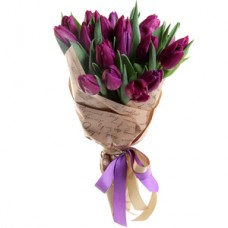 11 violet tulips in craft