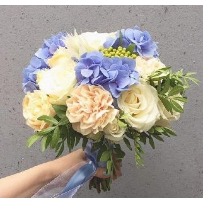 """Wedding bouquet """"Marine"""""""